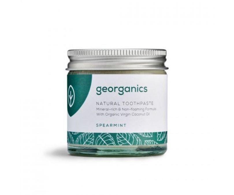 GEORGANICS Mineralna pasta do zębów w słoiku bez fluoru, certyfikowana SPEARMINT 60ml